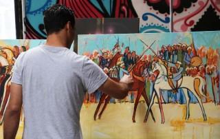 Alaa Awad - Mural - Noot Room 2018