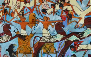 Mural by artist Alaa Awad from Luxor