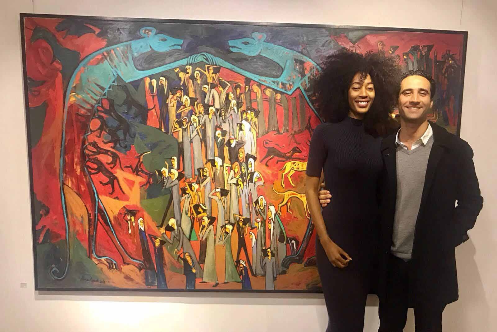 Exhibition of artist Alaa Awad with Sarah Wesley - The West Bank in Cairo / Egypten 2018