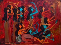 Wailing women 2013, oil on Canvas 120 x 160 cm.