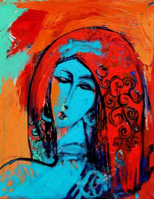 Alaa Awad – Painting – Portrait