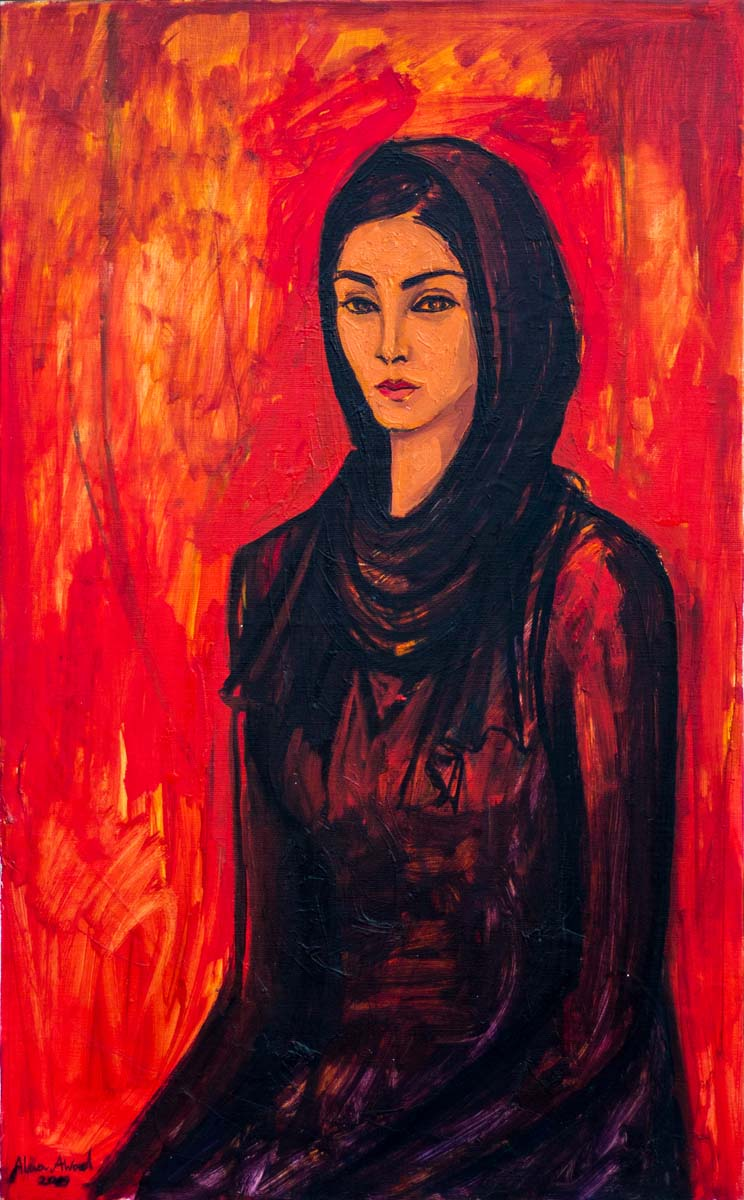Manar 50 × 80 cm, oil on canvas 2019