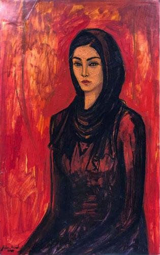 Manar 50 × 80 cm, oil on canvas 2019