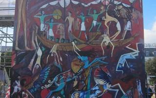 alaa awad - the artist - علاء عوض - mural - OCCUPY UTOPIA