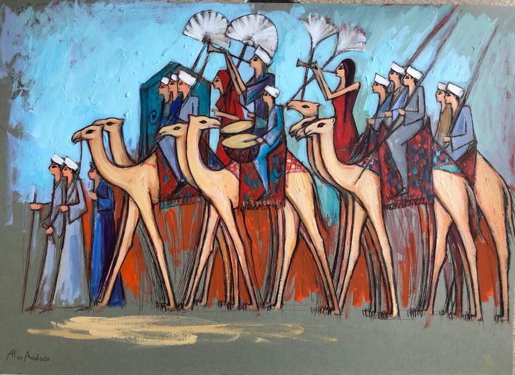 Alaa Awad – Painting 2020